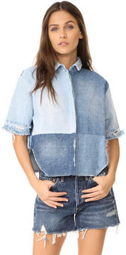 PRPS Denim Tear Drop Top