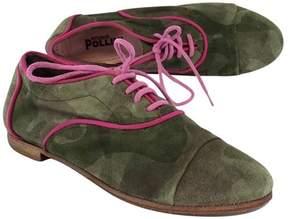 Studio Pollini Green Camo Suede Oxfords