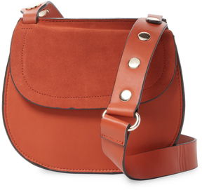 French Connection Women's Celia Suede Saddle Bag