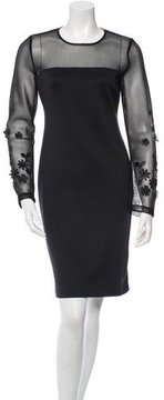 Clover Canyon Floral-Embellished Sheath Dress w/ Tags