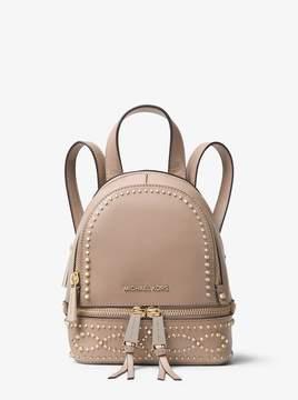 MICHAEL Michael Kors Rhea Mini Studded Leather Backpack