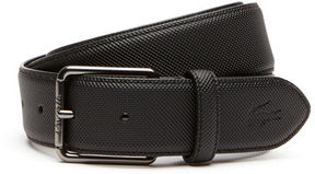 Lacoste Men's Classic Engraved Tongue Buckle Petit Piqu Belt
