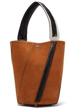 Proenza Schouler Hex Braided Leather Suede Bucket Bag - Womens - Tan
