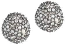 Alexis Bittar Elements Crystal Encrusted Button Stud Earrings