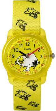 Timex Kids Time Machines x Peanuts: Snoopy & Woodstock Watch, Elastic Fabric Strap