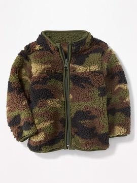 Old Navy Camo Sherpa Zip Jacket for Baby