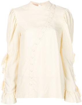 Drome asymmetric placket blouse