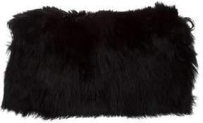 Alexander McQueen Folded Fur Clutch