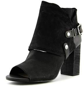 Fergie Roland Women Round Toe Leather Black Ankle Boot.