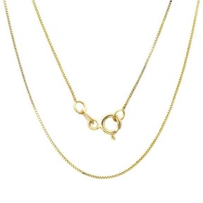 Alpha A A 14kt Yellow Gold Classic Box Link Necklace, 20
