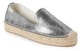 Soludos Metallic Leather Smoking Slippers