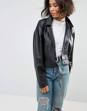 Asos 80s Jacket in Soft Leather