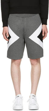 Neil Barrett Grey Tricolor Modernist Shorts