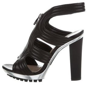 Barbara Bui Leather Cutout Sandals