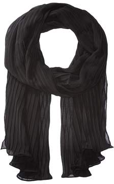 Steve Madden Solid Georgette Pleated Eve Wrap Scarves