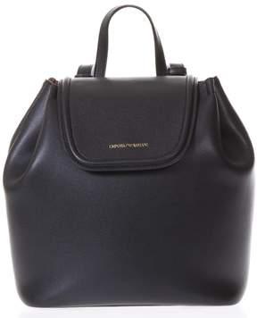 Emporio Armani Wilma Black Leather Backpack