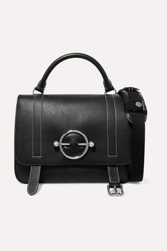 J.W.Anderson Disc Leather And Suede Shoulder Bag - Black