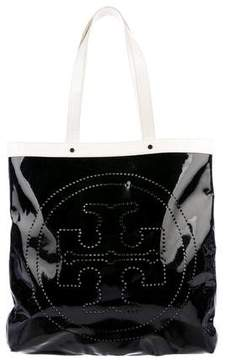 Tory Burch Bicolor Patent Leather Tote