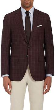 Isaia Men's Sanita Checked Wool Two-Button Sportcoat