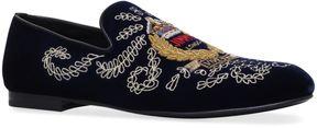 Jimmy Choo Sloane Embroidered Velvet Slippers