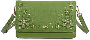 Michael Kors Floral Embellished Convertible Crossbody- True Green - ONE COLOR - STYLE