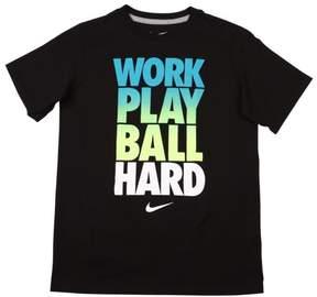 Nike Big Boys' (8-20) Work Play Ball Hard T-Shirt-Black-Small