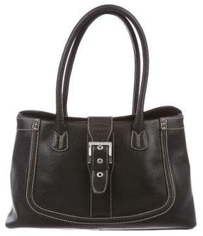 Tod's Pebbled Leather Buckle Bag