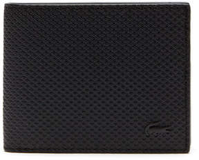 Lacoste Men's Chantaco Monochrome Coated Leather Flat Wallet