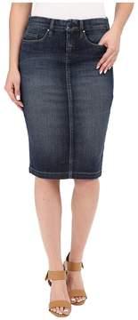 Blank NYC Denim Pencil Skirt in Denim Blue Women's Skirt