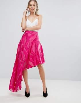Coast Jacquard Asymetric Skirt