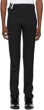 Helmut Lang Black Elastic Strap Trousers