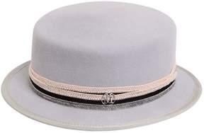 Maison Michel Auguste Rabbit Fur Felt Hat W/ Beads