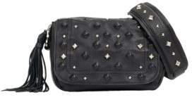 Sanctuary Studded Leather Camera Bag