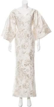 Christian Siriano Floral Brocade Evening Dress