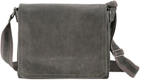 David King Leather 6152 East/West Messenger Distressed