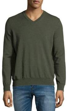 Thomas Dean V-Neck Merino Sweater