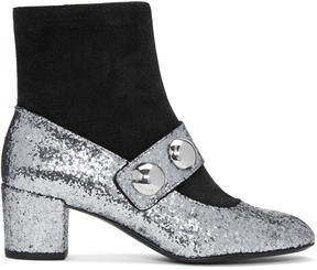 Marc Jacobs Silver Margaux Cabochon Boots