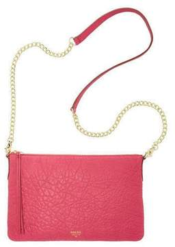 Fossil Sydney Chain Top Zip Bright Pink Leather Purse Crossbody, ZB5702695