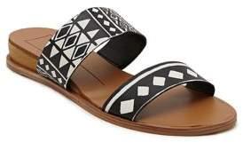 Dolce Vita ayce Leather Print Slide Sandals