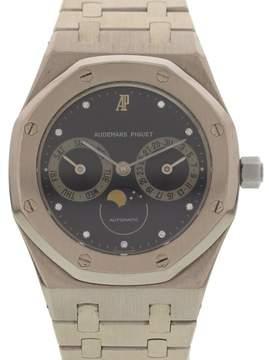 Audemars Piguet 18K White Gold Royal Oak 25594 Day-Date Moonphase Mens Watch