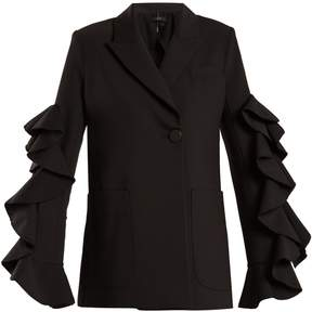 Ellery Gold Band double-breasted ruffle-trimmed jacket