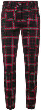 Cambio plaid cropped trousers