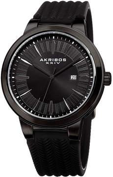 Akribos XXIV Mens Black Bracelet Watch-A-1007bk