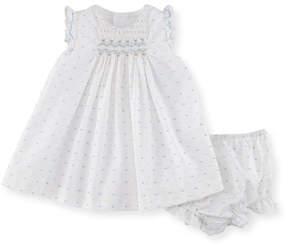 Luli & Me Swiss Dot Dress w/ Ruffle Bloomers, Size Newborn-9M