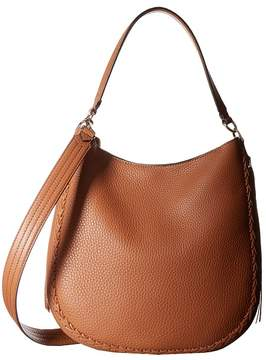 Rebecca Minkoff Unlined Convertible Hobo with Whipstitch Hobo Handbags - ALMOND - STYLE