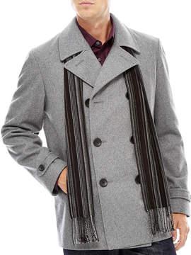 Claiborne Wool-Blend Pea Coat