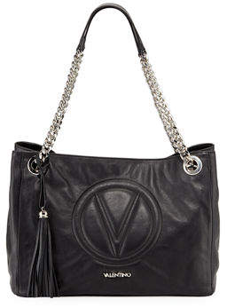 Mario Valentino Valentino By Verra Sauvage Leather Tote Bag