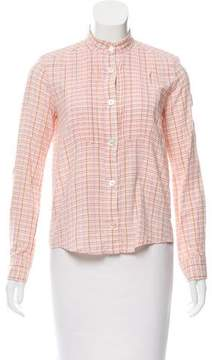 Marc Jacobs Pleat-Accented Button-Up Top