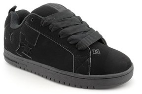 DC Court Graffik Round Toe Leather Skate Shoe.