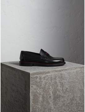 Burberry Two-tone Leather Penny Loafers